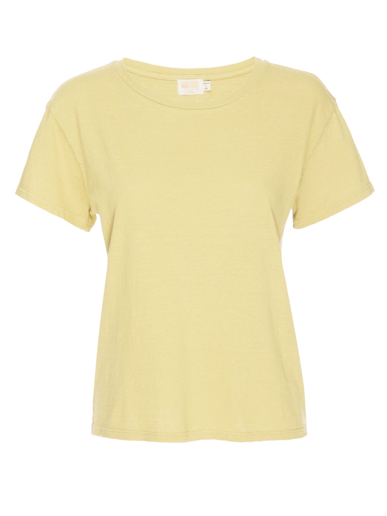 Nation LTD Marie Tee in Recycled Cotton in Pineapple