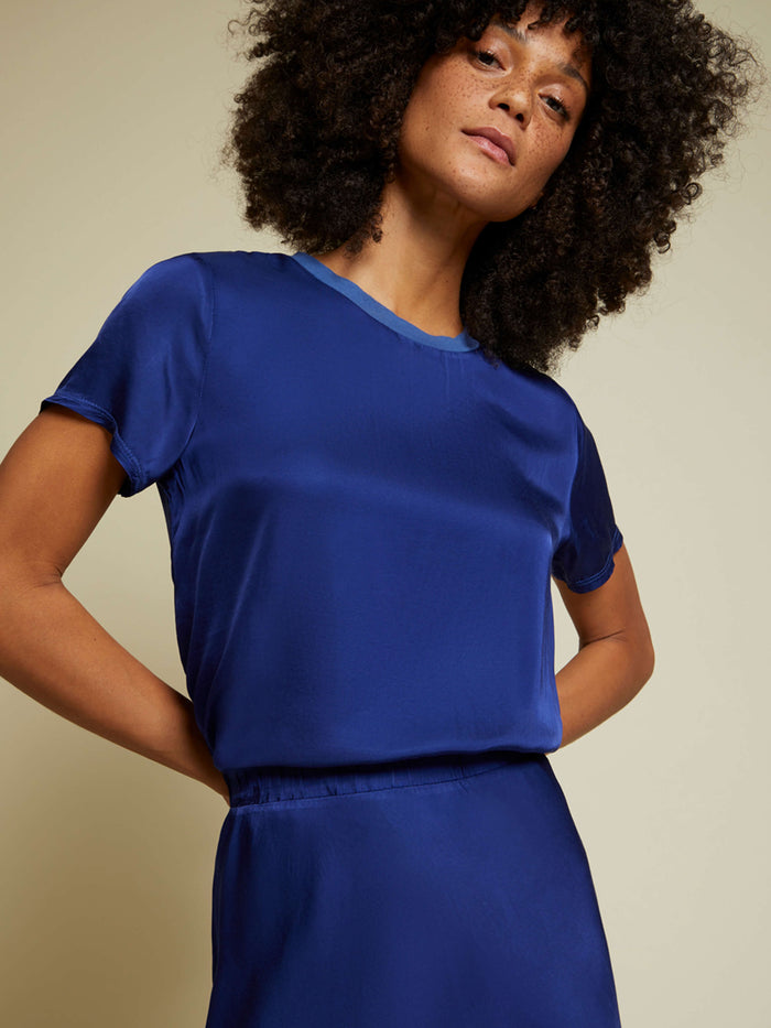 Nation LTD Marie Top in Deep Blue