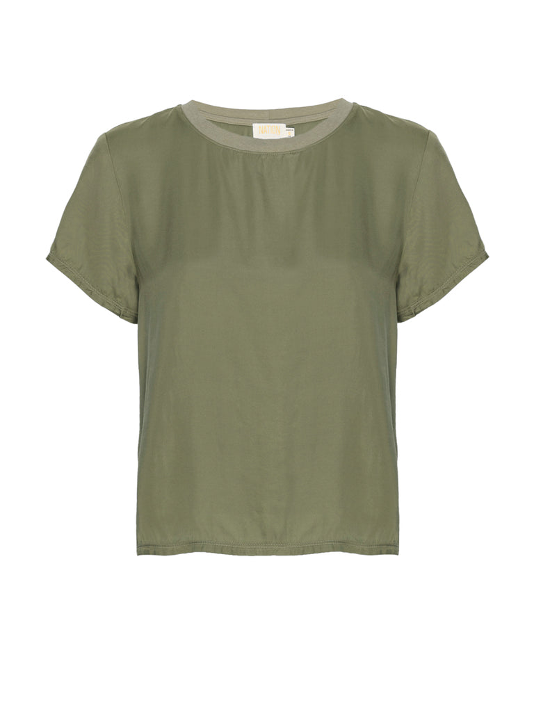 Nation LTD Marie Top in Vintage Army