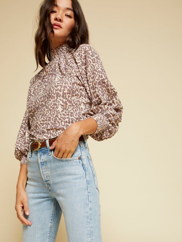 Nation LTD Melanie Long Sleeve in Antique Leopard