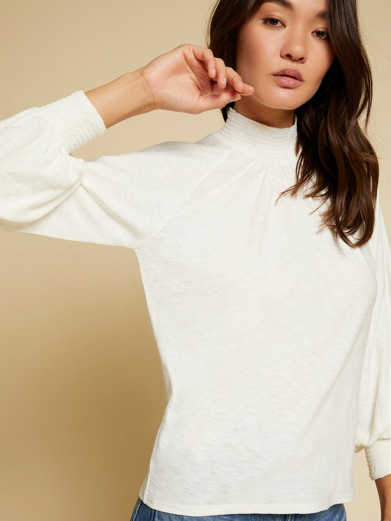Nation LTD Melanie Long Sleeve in Off White