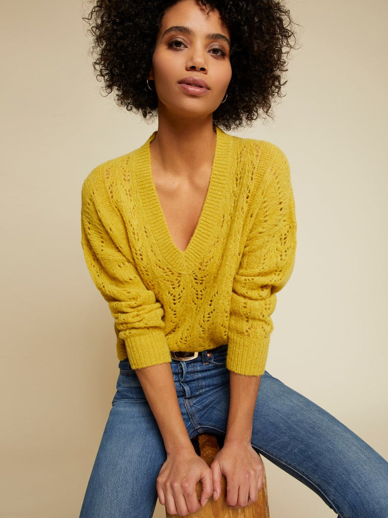 Nation LTD Mika Sweater in Honeycomb