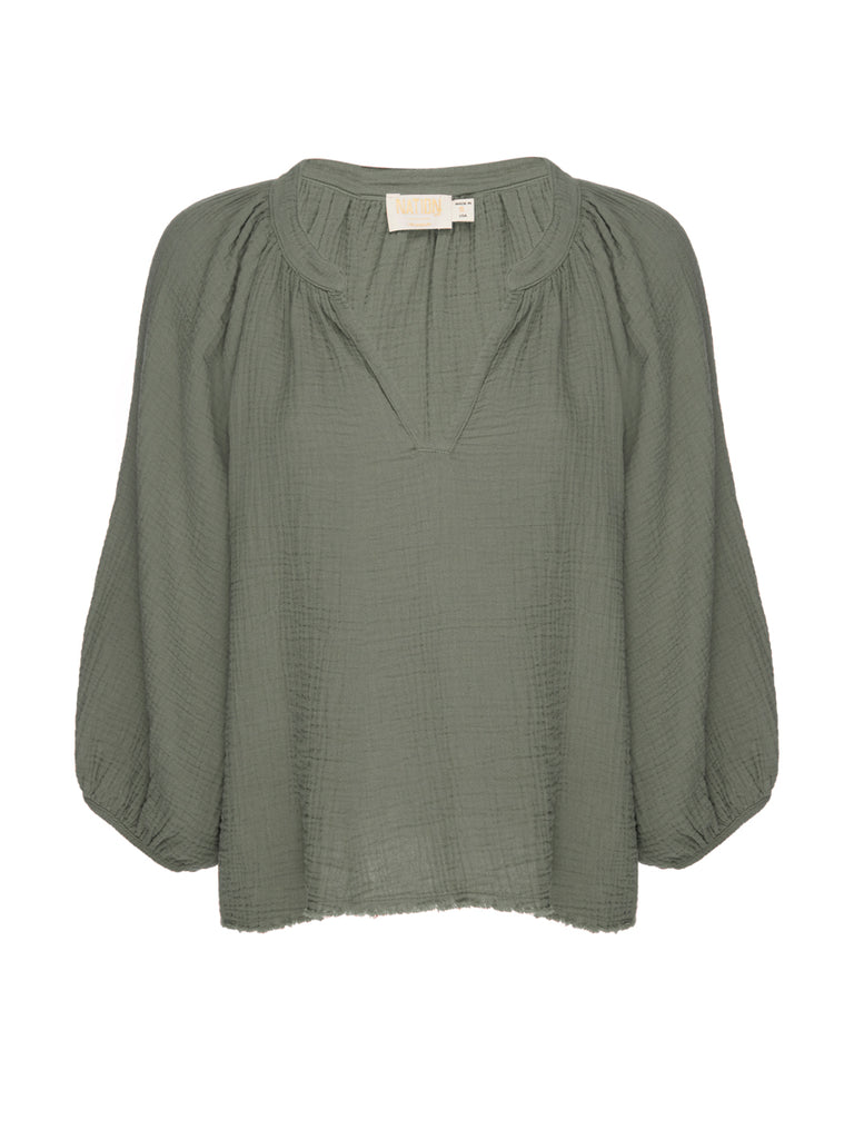 Nation LTD Mimi Top in Vintage Army