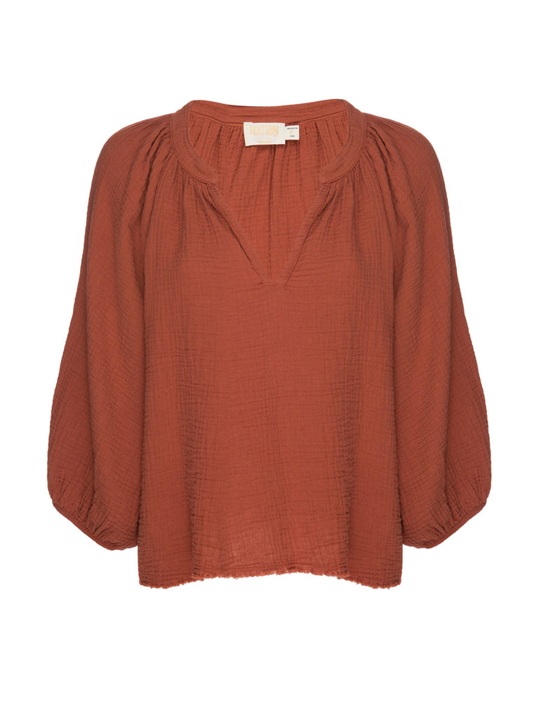 Nation LTD Mimi Top in Paprika