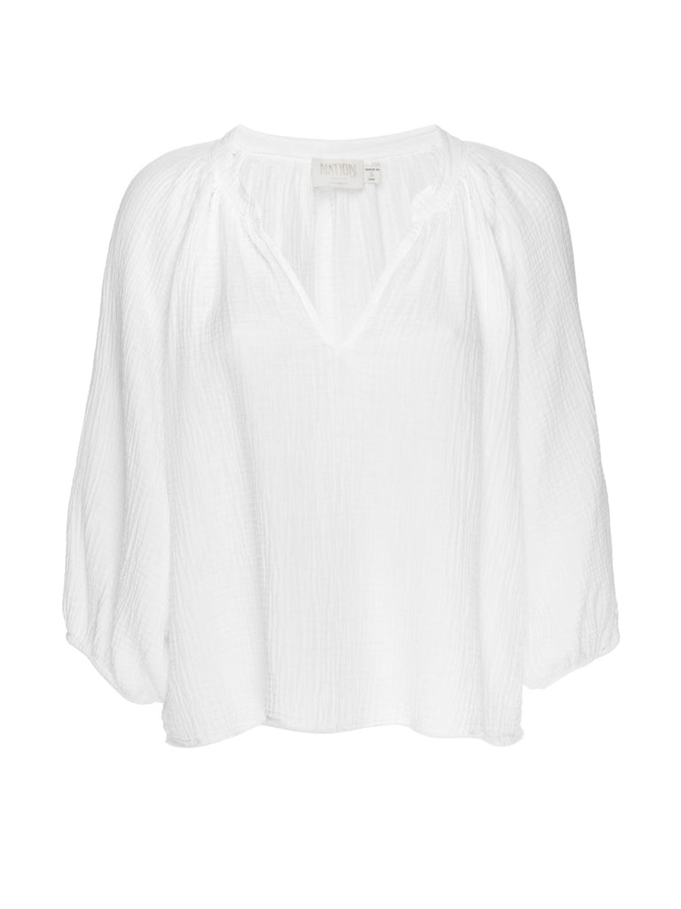 Nation LTD Mimi Top in White