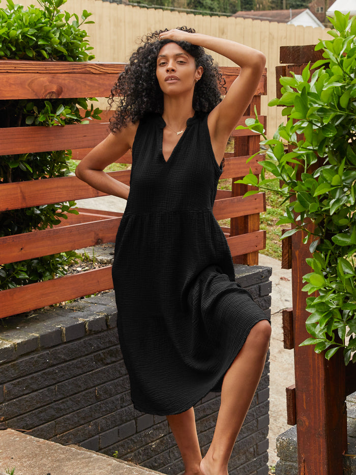 Nation LTD Nadie Dress in Black