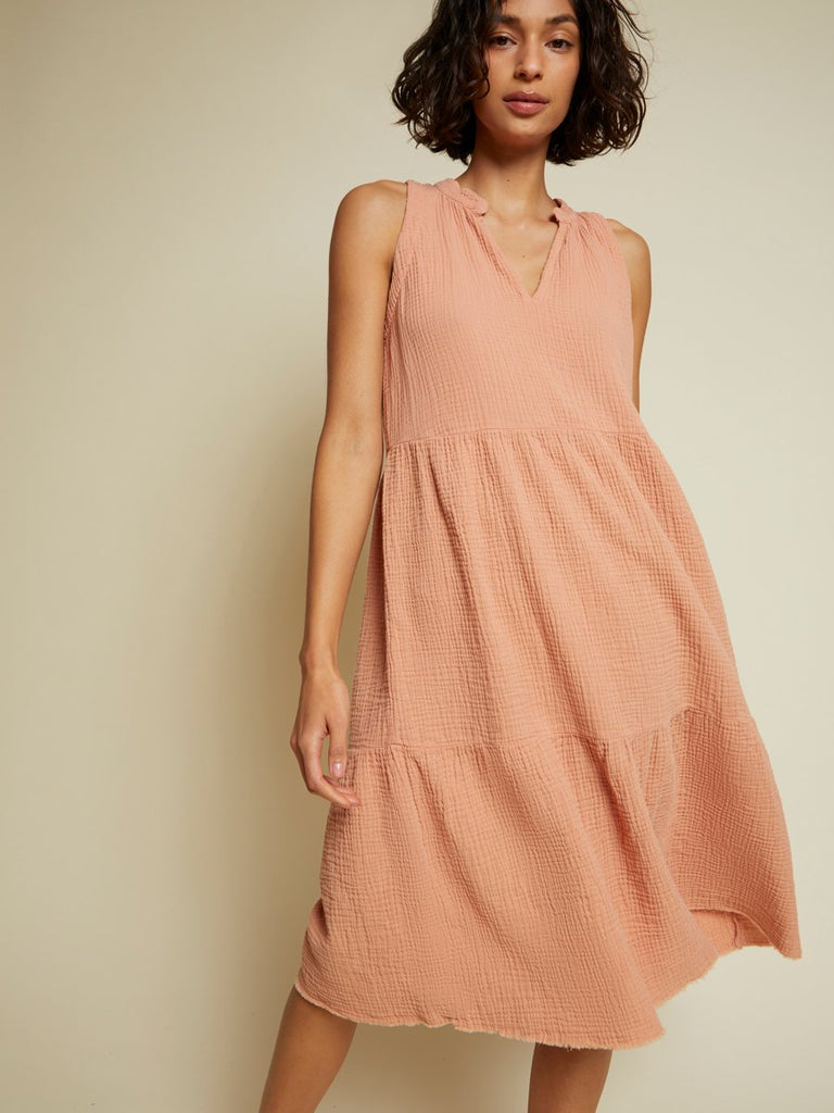 Nation LTD Nadie Dress in Pink Glaze