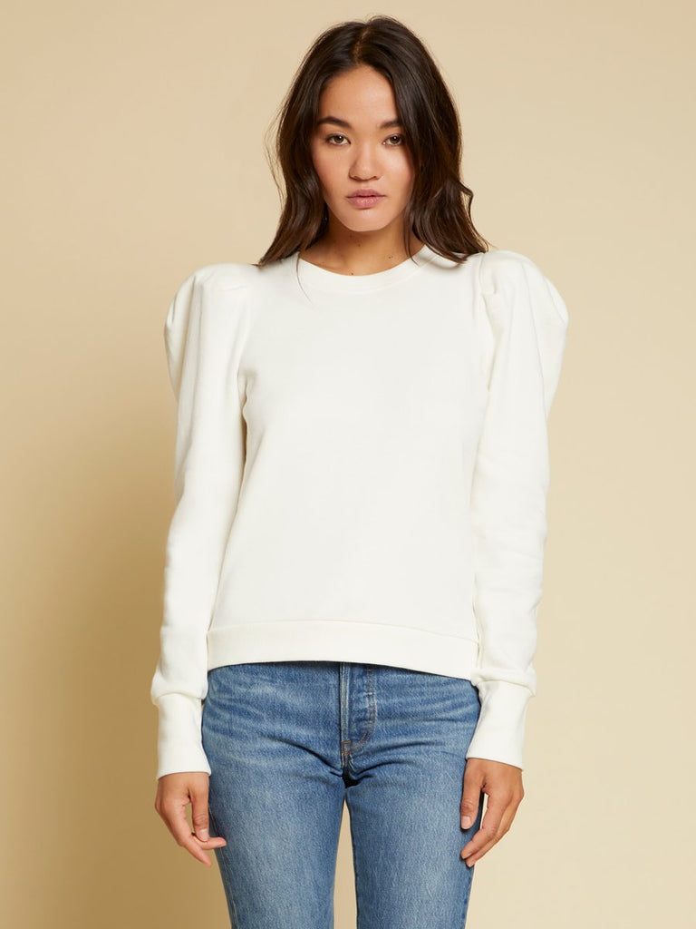 Nation LTD Nikka Sweatshirt in Off White