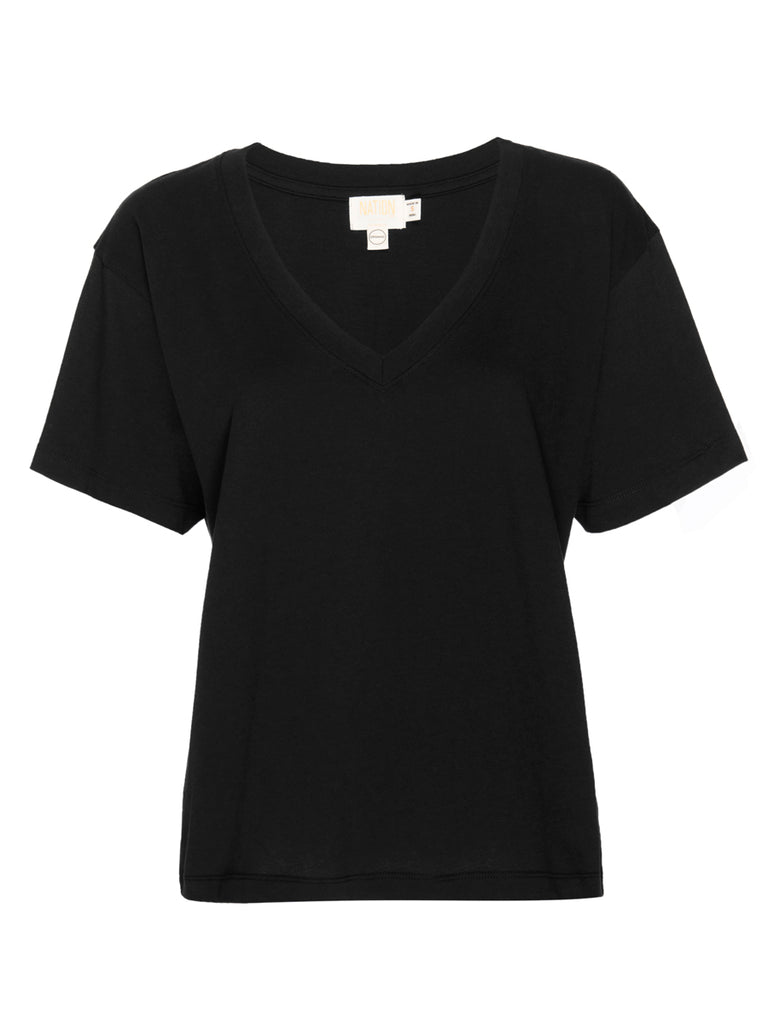 Nation LTD Nina Tee in Organic Cotton in Black