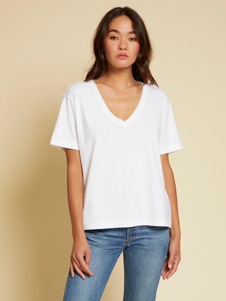 Nation LTD Nina Tee in Organic Cotton in White