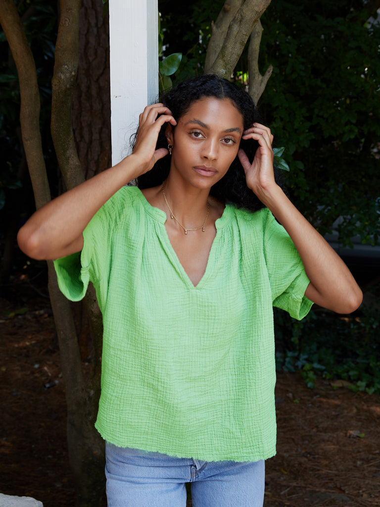 Nation LTD Odette Top in Electric Lime