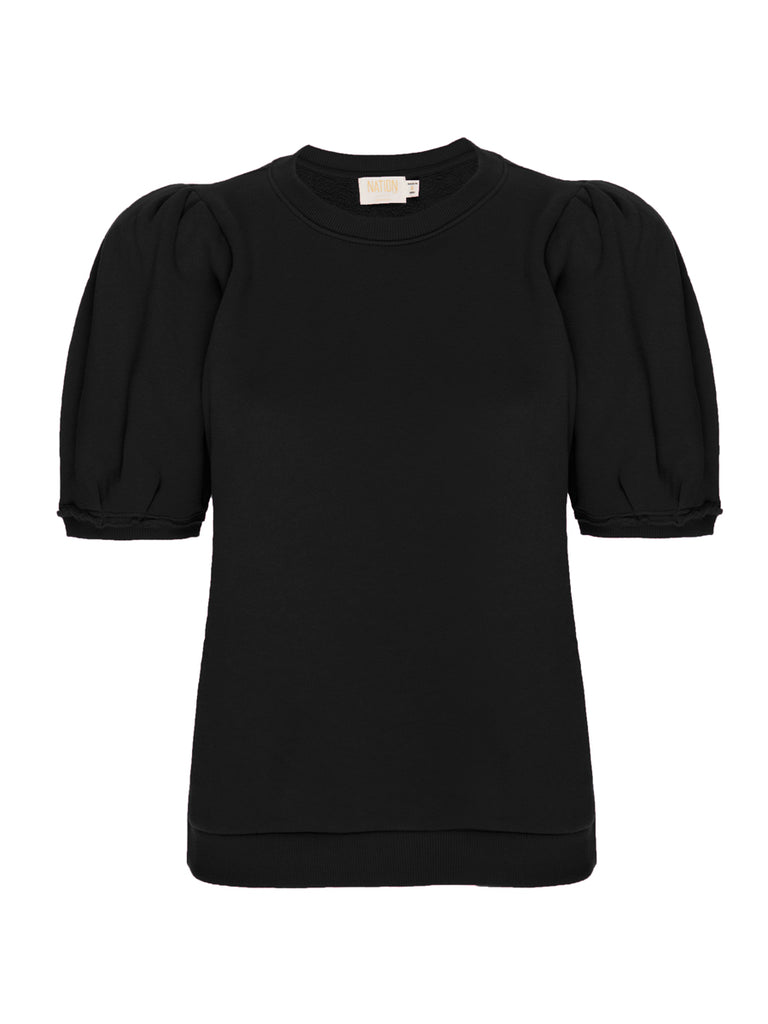 Nation LTD Pamina Sweatshirt in Jet Black