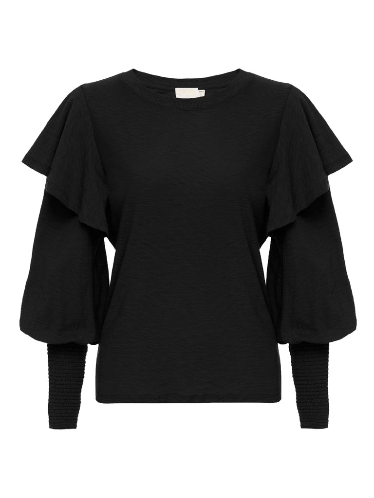 Nation LTD Reeva Long Sleeve in Jet Black