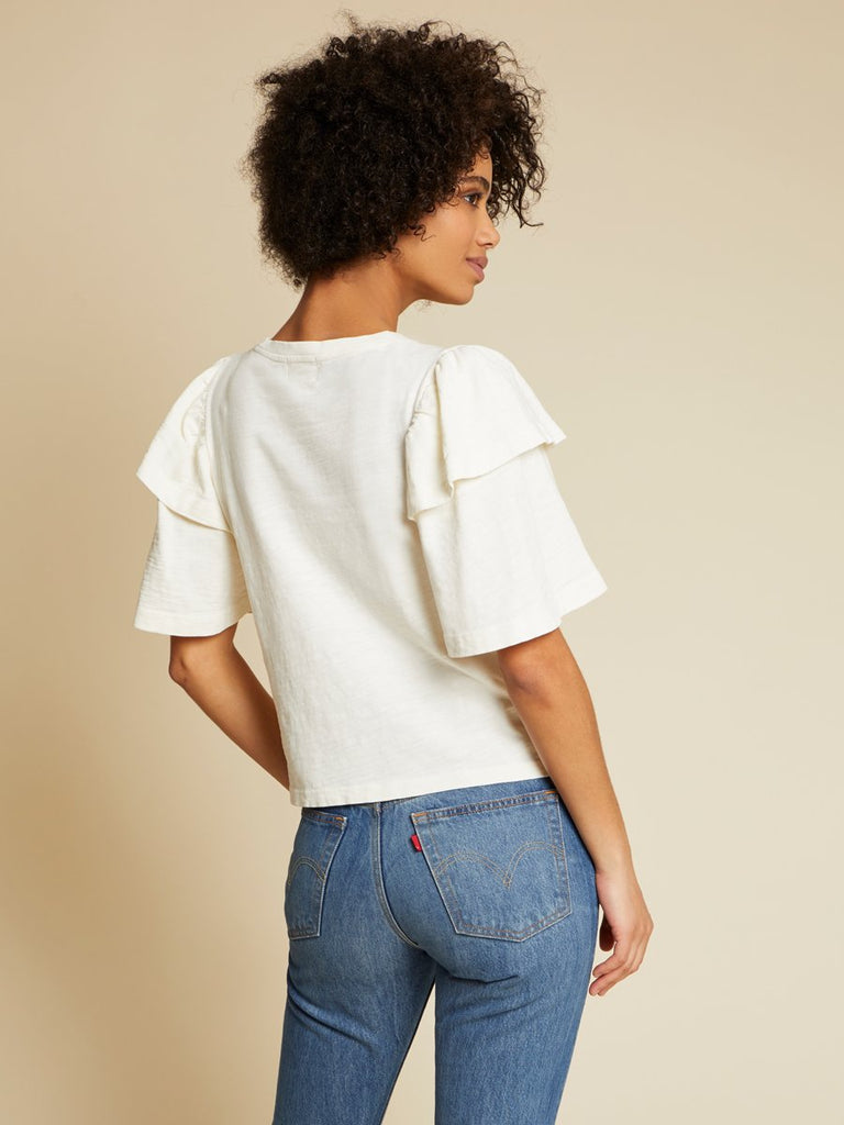 Nation LTD Regina Top in Off White