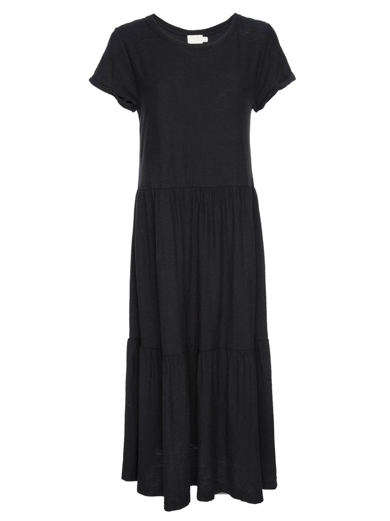Nation LTD Roman Dress in Jet Black