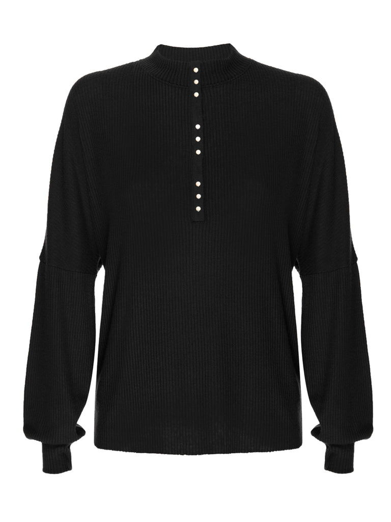 Nation LTD Roux Top in Jet Black