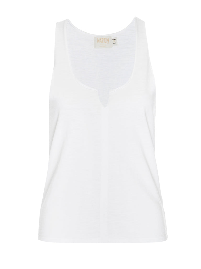 Nation LTD Saffi Tank in White