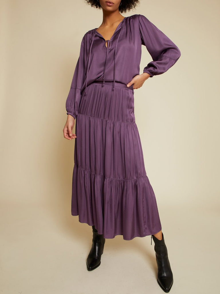 Nation LTD Sandra Blouse in Purple Rain