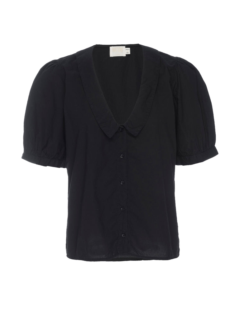 Nation LTD Saxen Top in Jet Black