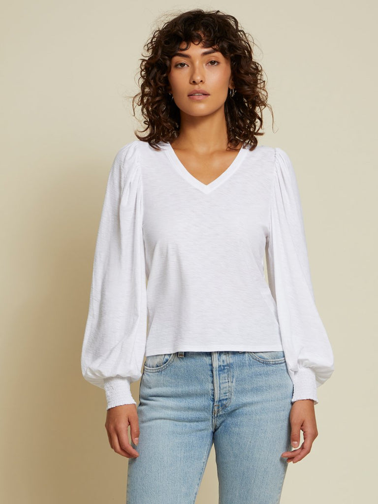 Nation LTD Tabitha Long Sleeve in White