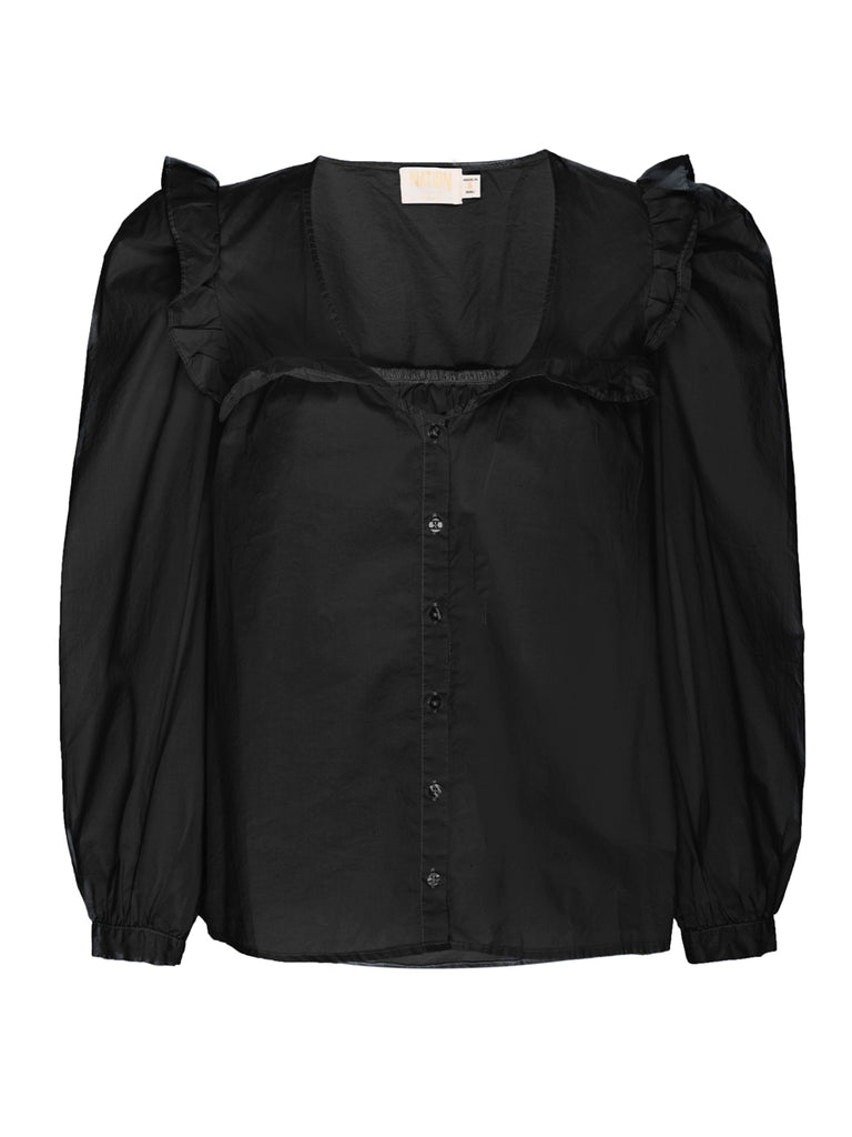 Nation LTD Tatiana Top in Jet Black