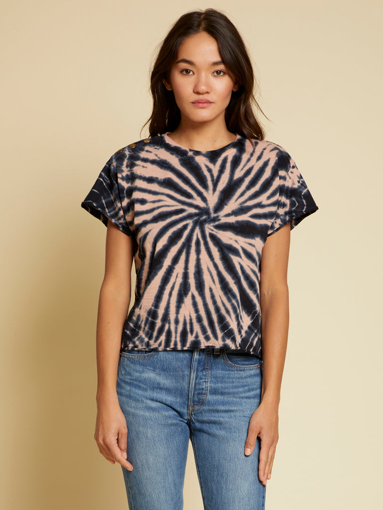 Nation LTD Terrin Top in Indigo Spiral