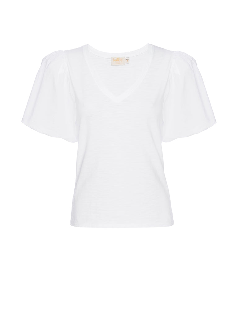 Nation LTD Traci Top in Optic White