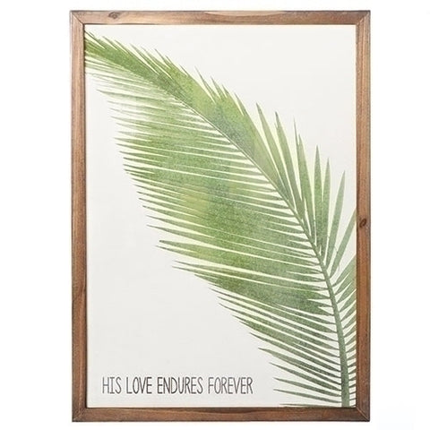 Framed Linen Palm Art
