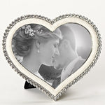 Heart Frame with Crystals - 5""
