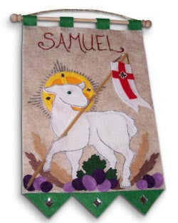 First Communion Banner Kit - Lamb of God (Green)