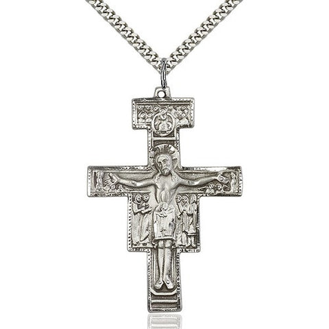 "San Damiano Pendant on 24"" Chain"