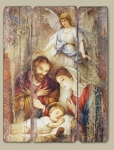 Holy Family Wall Panel 17""