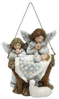 Baby Jesus with Angels Ornament
