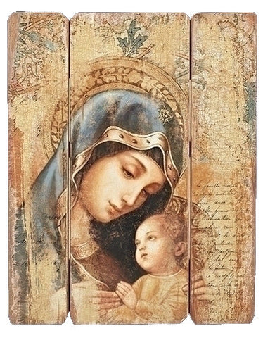 Madonna and Child Wall Panel 26""