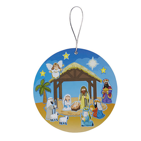Nativity Sticker Ornament