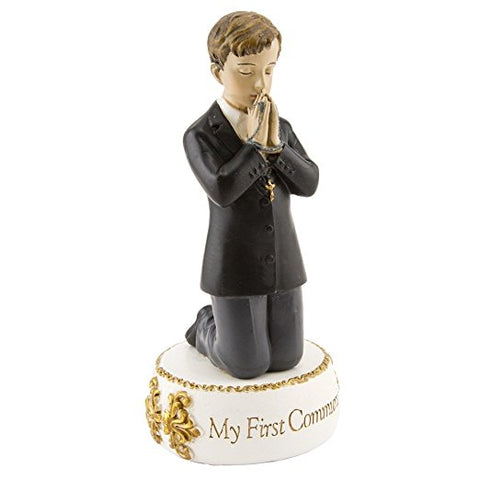 Kneeling Boy First Communion Statue