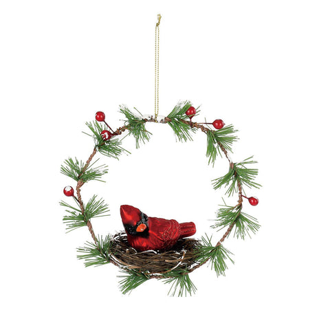 Cardinal Nest Wreath Ornament