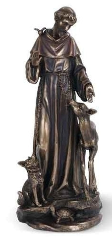 St. Francis with Deer 14""