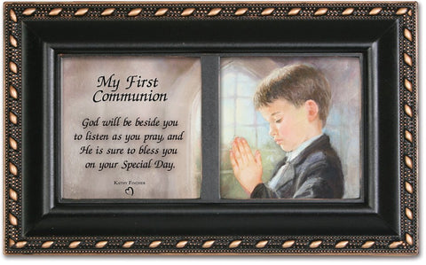 First Communion Boy Musical Rosary Box