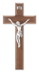 Genuine Walnut Crucifix with Antiqued Italian Corpus 10""