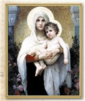 BOUGUEREAU: MADONNA OF THE ROSES PLAQUE