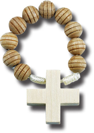 Carved Wood Rosary Ring