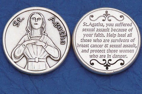 St. Agatha / Sexual Assault Pocket Token