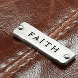 Faith Faux Leather Brown Bible Cover