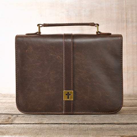 Cross Brown Faux Leather Bible Cover