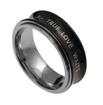 "Spinner Black Ring ""True Love Waits"""