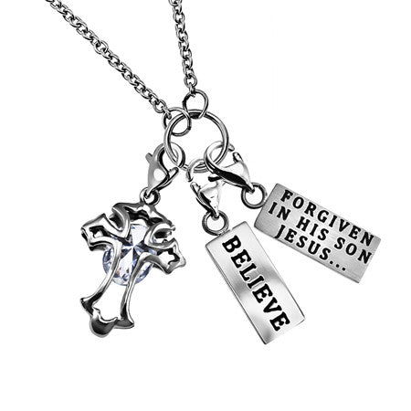 """Believe"" Charm Necklace"