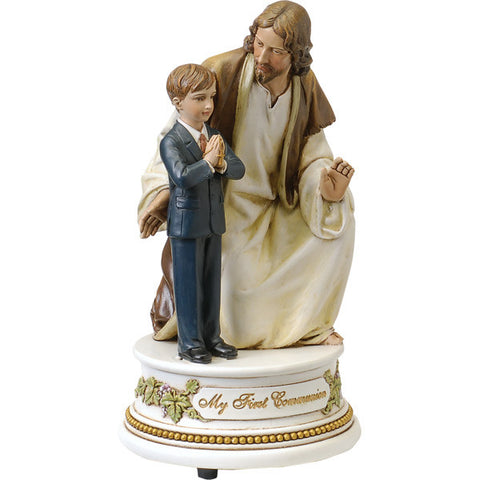 Musical First Communion Boy with Jesus