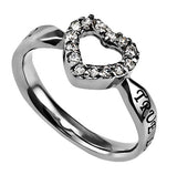 "Open Heart Ring ""True Love Waits"""