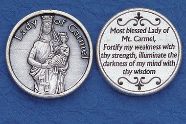 Lady of Mt. Carmel Pocket Token